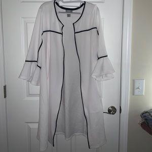 Catherines 0X Black/White Dressy Cardigan